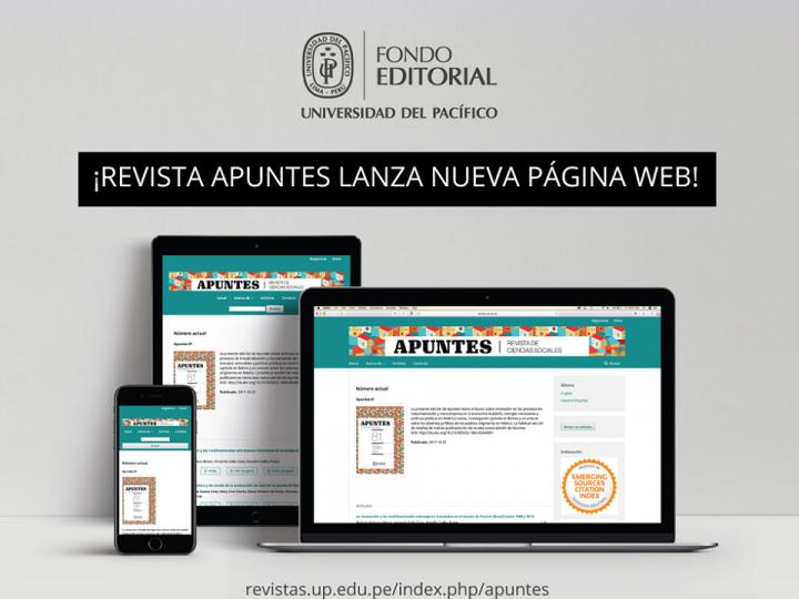 La revista Apuntes renueva su sitio con última versión del sistema OJS